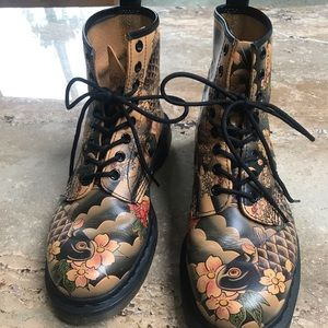 Koi Japanese Art Tattoo Sleeve Doc Martens!!